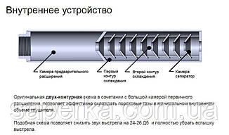 """Глушитель, саундмодератор """"Steel"""" для карабина Taurus CT9G2 резьба 14х1 Rh, фото 2"""