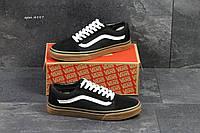 Мужские кеды Vans old skool черные с белым в  фирменных коробках