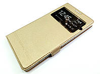 Чехол книжка с окошком momax для Microsoft Lumia 950 XL золотой