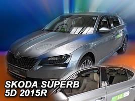 Дефлекторы окон (ветровики)   Skoda Super B 2015R-> 5D LTB 4шт(Heko)