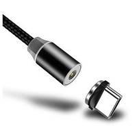 Магнитный USB Кабель Type-C Usams US-SJ159 в плетеной оплетке 1.2m \ Черный