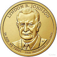 США 1 доллар 2015, 36 президент Линдон Джонсон (1963-1969)