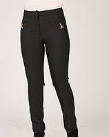 Стильные утепленные женские брюки Бантики
