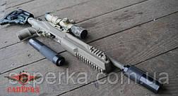 """Глушитель """"Steel"""" для мелкокалиберных винтовок .22 Lr 1/2 28 UNEF, фото 3"""