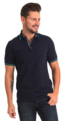 Темно-синяя футболка POLO 1801-2 разм. 50, фото 2