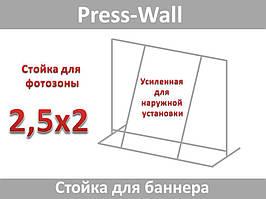 Конструкция стойка для баннера усиленная пресс вол