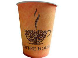 """Одноразовый бумажный стакан с рисунком 340 мл, """"Coffee House"""" (Маэстро), 50 шт/пач"""