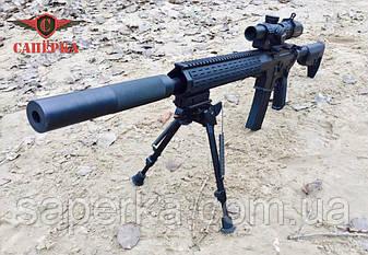 "Глушник, саундмодератор ""Steel"" для AR-15 223 1/2 28 UNEF, фото 2"
