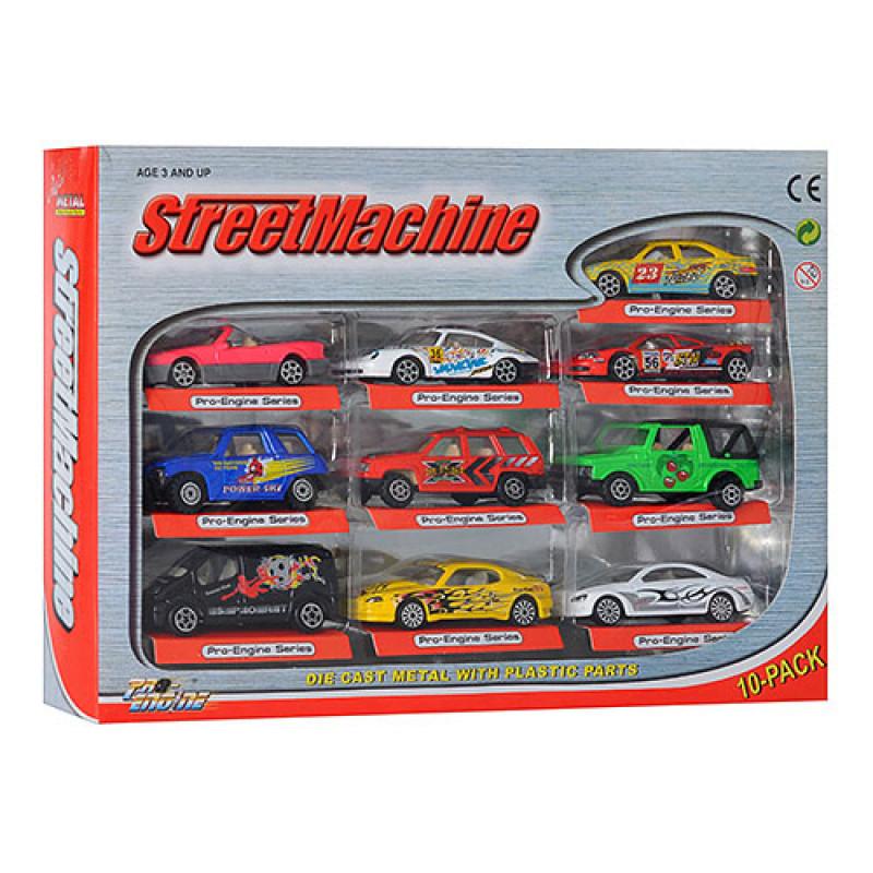 Набір машинок PT 2008 в коробці, 10 машин