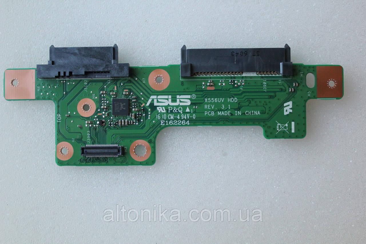 Плата hdd / odd для ноутбука Asus R558UQ X556UV X556U X556 X556UAM HDD BOARD (90NB09S0-R10040)