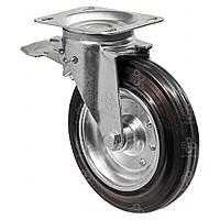 Колесо поворотное Серия 33 Medium Scaffolding с крепёжной панелью и тормозом Kastor Диаметр: 200мм.