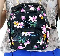 Рюкзак женский POOLPARTY Цветы экокожа