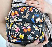 Рюкзак женский POOLPARTY Бабочки 02 экокожа