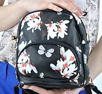 Рюкзак женский POOLPARTY Цветочки экокожа