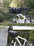 Сумка велосипедная на руль серая, фото 2