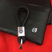 Кожаный брелок для автоключей с логотипом Volvo (Вольво)