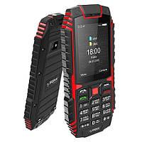 Защищенный телефон кнопочный на 2 сим карты Sigma X-treme DT68 чёрно-красный