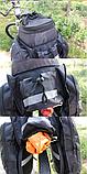 Сумка велосипедная велоштаны на багажник черная, фото 6