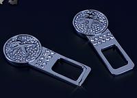 Комплект эксклюзивных заглушек в замок ремня безопасности с логотипом  Peugeot  (Пежо)