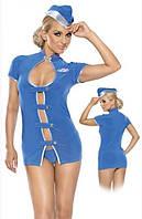 Roxana эротический ролевой (карнавальный) костюм стюардессы Flight attendant costume S/M R5160406