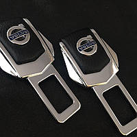 Комплект элитных заглушек в замок ремня безопасности с логотипом Volvo (Вольво)
