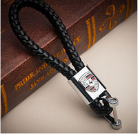 Кожаный брелок для автоключей с логотипом Порш (Porshe Порше)