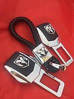 Комплект люксовых заглушек в замок ремня безопасности Dodge (Додж)