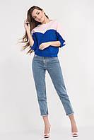 Яркий женский блузон цвета электрик