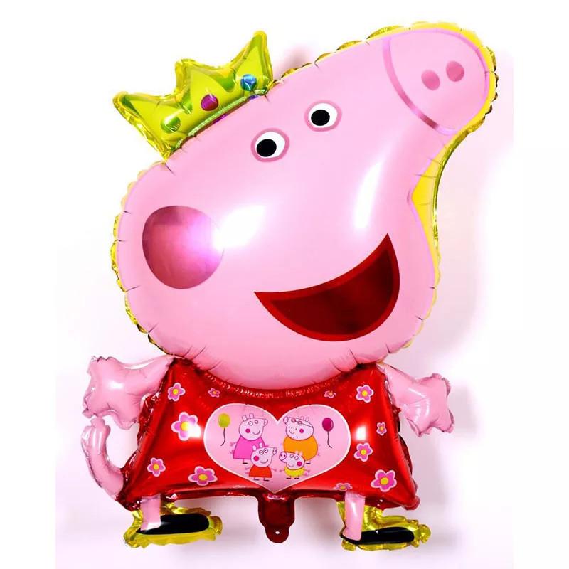 Надувной  шар Свинка Пеппа с короной 80*45 см.