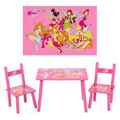 Детский стол и 2 стульчика М 1508 Winx
