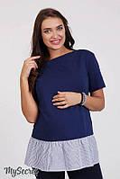 Туника с коротким рукавом для беременных и кормящих р. 44-50 ТМ Юла Мама Danni TN-28.011