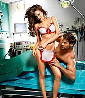 BACI Костюм медсестры White nurses bikini With apron B1235-WHITE RED