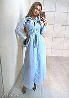 36523a50098 Женское элегантное макси платье с вышивкой