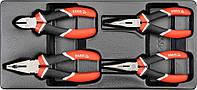 Набор губцевого инструмента 4шт,  YATO  YT-5534