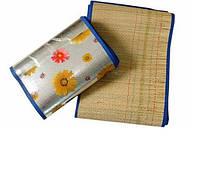 Пляжный коврик фольга с соломкой 120х180