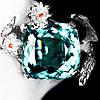 """Изящный перстень с аквамарином  """"Цветочный"""", размер 17,3 от студии LadyStyle.Biz"""