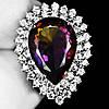 """Шикарный перстень с аметрином и белыми сапфирами  """"Капля"""", размер 18,1 от студии LadyStyle.Biz"""