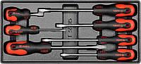 Набор плоских отверток (3х75, 5х100, 5х150, 6х38, 6х100, 6х150, 8х150)мм, 7шт,  YATO  YT-5535