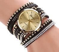 Часы - браслет, винтажные женские часы, наручные женские часы, часы на кожаном ремешке, винтажные часы
