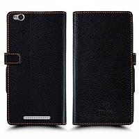Чехол книжка Stenk Wallet для Xiaomi Redmi 3 чёрный