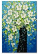 "Картина по номерам  ""Белые цветы"" 40х50 см 381"