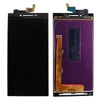 Дисплей Lenovo P70 черный (LCD экран, тачскрин, стекло в сборе)