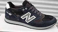 Мужские кроссовки NIKE с сеткой натуральная замша синие, р.  40, 41, 42, 43, 44, 45
