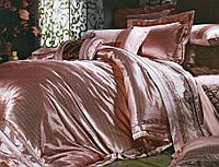 Комплект постельного белья шелковый жаккард La scala 3D-062