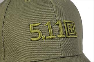 """Бейсболка тактическая 5.11 (логотип 93"""") оливковая, фото 3"""