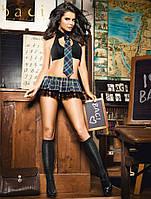 Эротический игровой (карнавальный) BACI  «Сексуальная школьница» Schoolgirl uniform With bra, skirt & tie