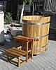 Купель деревянная из дуба овальная 120*80*120см