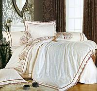 Комплект постельного белья шелковый жаккард La scala 3D-072
