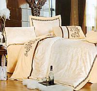 Комплект постельного белья шелковый жаккард La scala 3D-073