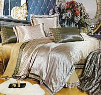 Комплект постельного белья шелковый жаккард La scala 3D-074